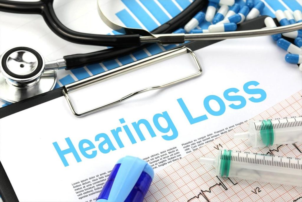 Hearing loss titled on paper